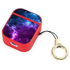 Amazon.com: Wireless Airpod Case Blue and Purple Galaxy