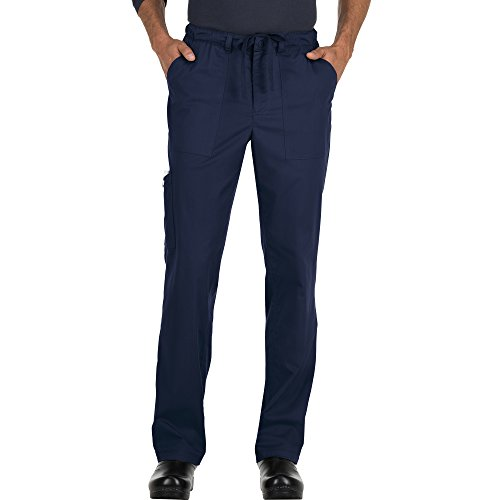 KOI Stretch Men's Ryan Stretch Zip Fly Drawstring Scrub Pant Large Tall Navy (Koi Tall Scrub Mens)