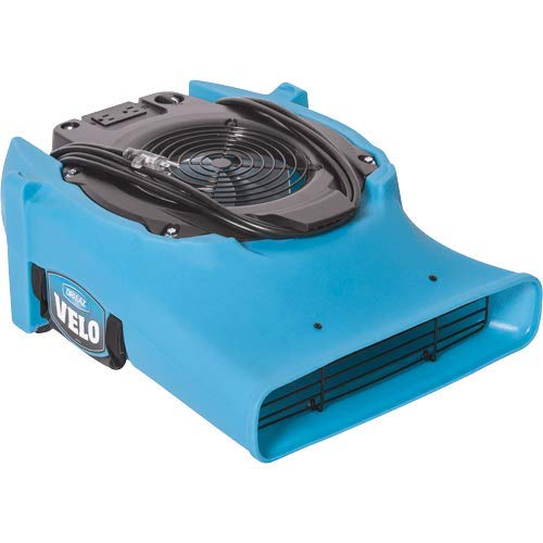 Dri Eaz Velo PRO Air Mover F505 Professional Water Damage Dryer for Carpets, Walls, Floors, 1.2 Amps on Low Saves Power, Variable Speed, High Velocity, Quiet, Well Built, Daisy Chains, Blue by Dri-Eaz