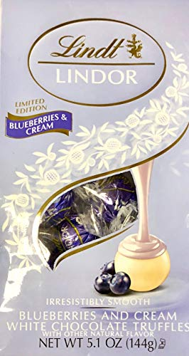Lindt Lindor Blueberries & Cream White Chocolate Limited Edition Easter Truffles 6oz ()