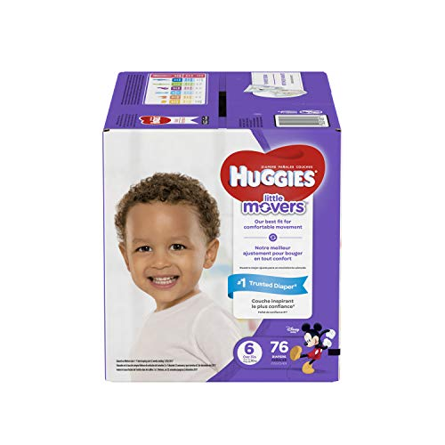 Tone Dialer Touch (HUGGIES LITTLE MOVERS Diapers, Size 6 (35+ lb.), 76 Ct., GIANT PACK (Packaging May Vary), Baby Diapers for Active Babies)