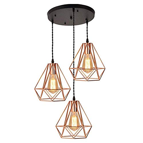 Creative Lámparas De Techo De Oro Lámpara Colgante De ...