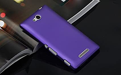 huge selection of 6d8b3 213d4 WOW Rubberised Hard Case Back Cover for Sony Xperia C - Purple