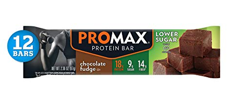 (Promax Low Sugar Chocolate Fudge, 18g High Protein, 9g Sugar, No Artificial Ingredients, 12 Count)