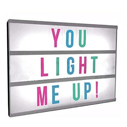 Buy Getek New A4 Light Up Letter Box Cinematic Led Sign Party