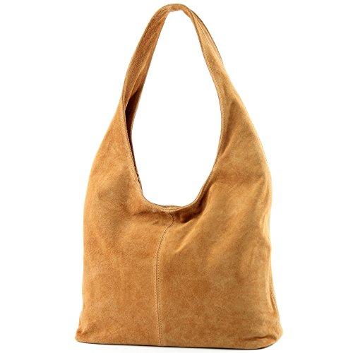 modamoda de - Made in Italy - Bolso al hombro para mujer marrón claro