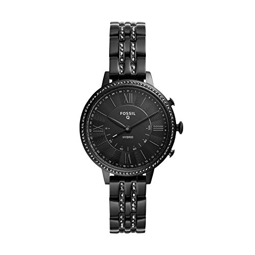 Fossil Q Women's Hybrid Smartwatch Watch with Stainless-Steel-Plated Strap, Black, 14 (Model: FTW5037)