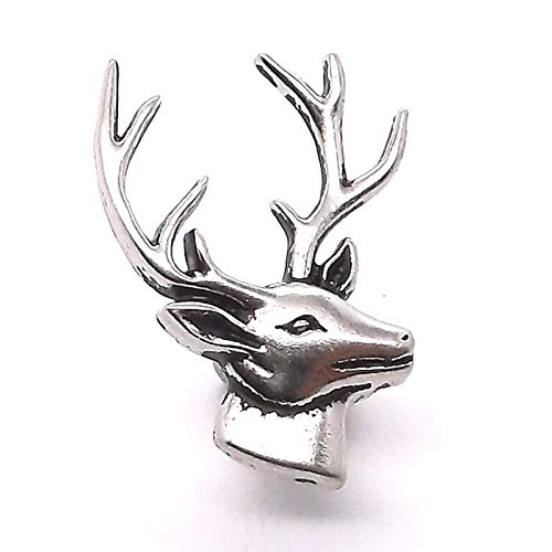 OutletBestSelling Deer Head Right Facing Nickel Decorative Snap Cap 1