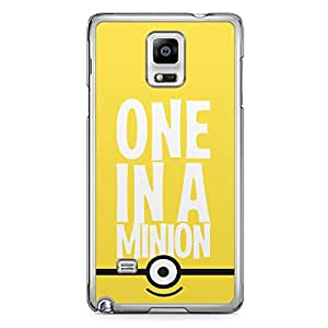 Minion Samsung Galaxy Note 4 Transparent Edge Case - F