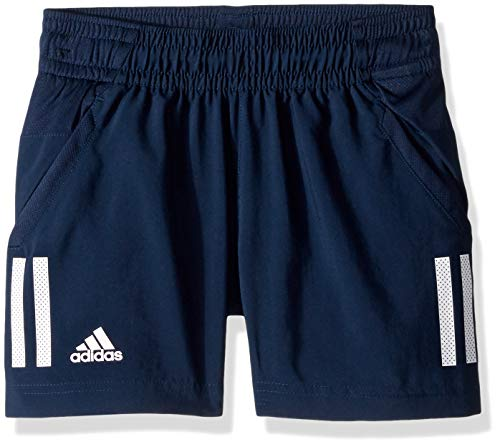 (adidas Youth Boys Club 3-Stripes Short, Collegiate Navy/White, Large)
