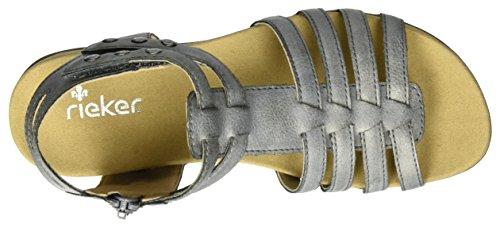 Gris Grey Rieker Fille K2267 Spartiates 40 nZqxgF