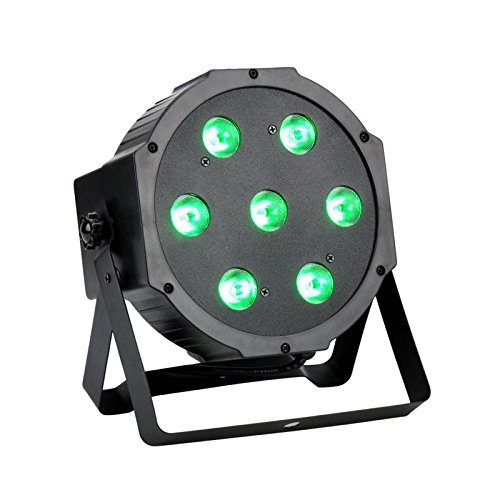 GBGS Par Lights RGBW 70W 4-in-1 Super bright Led Stage Lighting LED DMX Wash Effect Uplights Color Mixing Projector for DJ Dance Floor Wedding Birthday Party (1 Pack) (Dmx Effect Lighting)