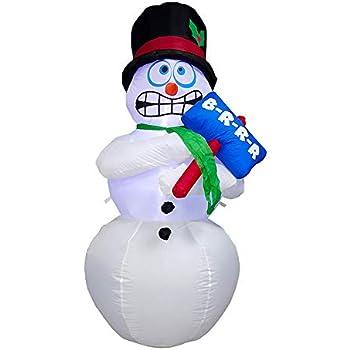 Amazon.com: Animated Shivering muñeco de nieve hinchable – 6 ...