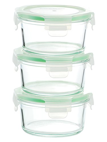 Round Storage - Kinetic 01334 GoGREEN Glassworks Series 6 Piece Round Oven Safe Glass Food Storage Container - 14 Ounce, Round