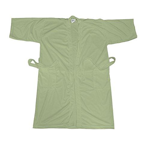Canyon Rose Cloud 9 Women's Plush Microfiber Full Length Spa Robe, Sage, M/L