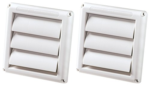 2-PACK of DEFLECTO HS4W/18 Supurr-vent Replacement Vent Hood (4Inch) - White