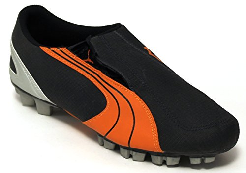 Puma Zapatos Fútbol Junior V5,06 GCr HG JR-101186-18 Ebony/Orange-Jaffa Metallic/31-Silver
