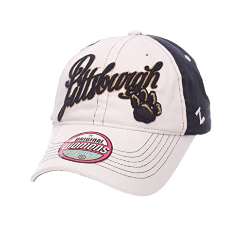 ZHATS NCAA Pittsburgh Panthers Adult Women Vogue Women's Relaxed Hat, Adjustable, White/Team Color