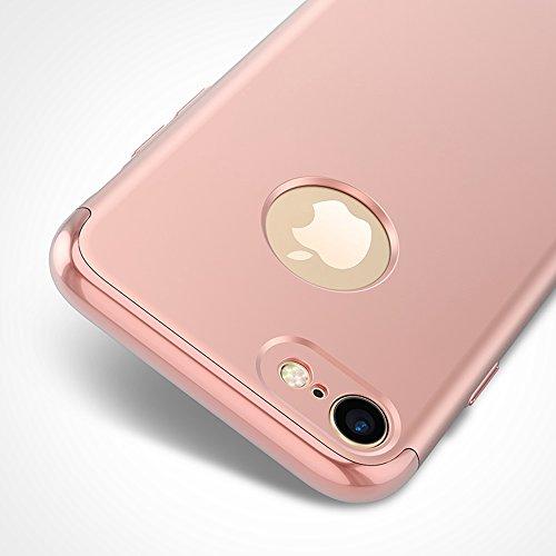 iPhone 5 Funda,iPhone 5S Funda,iPhone SE Funda,Case[Silky]Alta Calidad Ultra Slim Anti-Rasguño y Resistente Huellas Dactilares Totalmente Protectora color de la galjanoplastia Duro Funda(SJLC3-4) D
