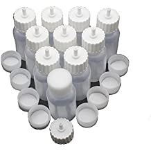 1 oz.Plastic Empty Squeezable Bottles for Body Paint Or Henna Tattoo,Glue Dropping Bottle Applicator Bottles with 2 Caps(30/Pack,White Caps)