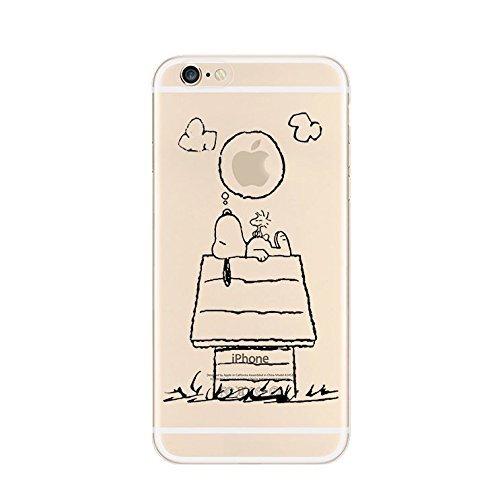 iPhone 6 Caso 6S por licaso® para el patrón de Apple iPhone 6 6S Snoopy con Gafas Sol TPU de silicona ultra-delgada proteger su iPhone 6S es elegante y cubierta regalo de coches Snoopy träumt