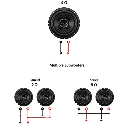BOSS Audio CXX8 8 Inch Car Subwoofer - 600 Watts Maximum Power, Single 4 Ohm Voice Coil, Easy Mounting, Sold Individually by BOSS Audio Systems (Image #6)