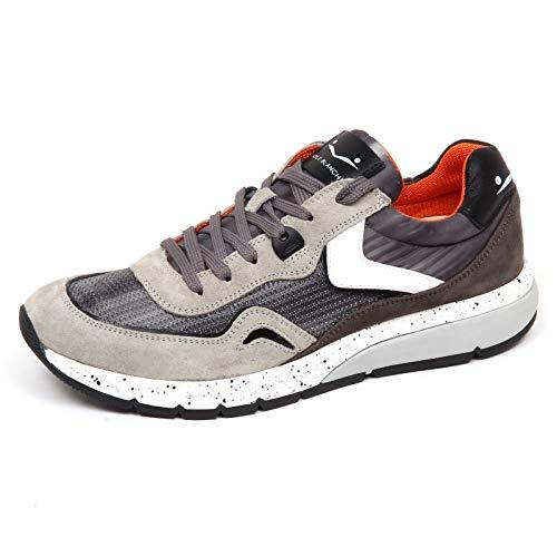 Uomo Grigio F3008 Sneaker Tissue Perforated Grey Voile Blanche grigio Shoe Man Endavour Scuro Mesh qP5tn