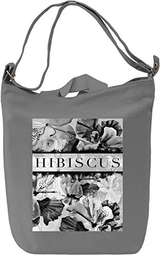 Hibiscus Borsa Giornaliera Canvas Canvas Day Bag| 100% Premium Cotton Canvas| DTG Printing|