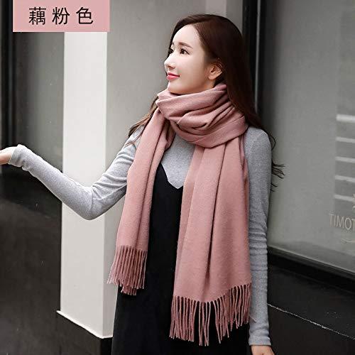Femminile Student Sottile Unita Scialle Wild Tinta Agvbtqxzf Spessore Sciarpa Rosa Caldo Grande TwpqERB