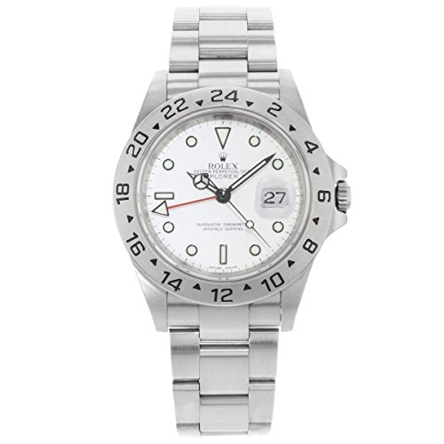 Rolex Explorer (Rolex Explorer II 40mm White Dial GMT 2004 Steel Automatic Men's Watch 16570 (Certified Pre-Owned))