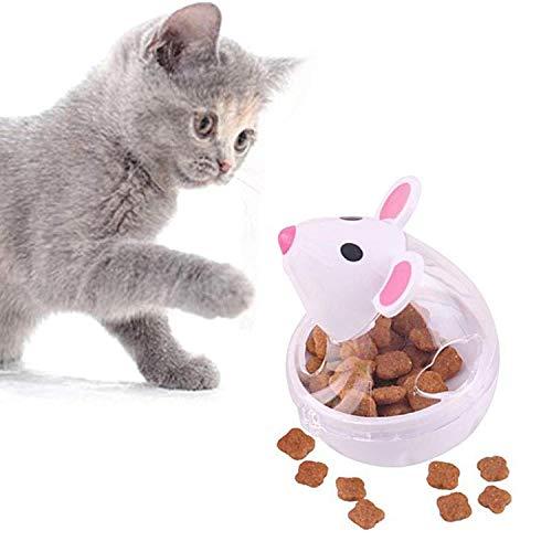 Legendog Bola De Comida para Gatos Dispensaci/ón De Juguete para Mascotas Bola De Ratones De Alimentaci/ón Lenta Bola En Forma De Gato Bola De Alimentos para Mascotas