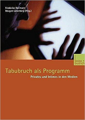 Book Tabubruch als Programm
