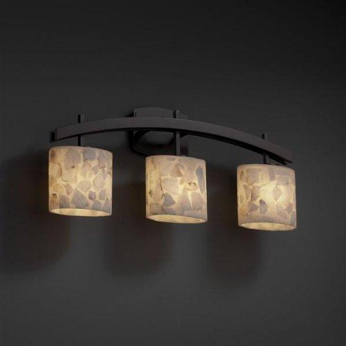 Justice Design ALR-8593-30-DBRZ Archway Three Light Bath Bar, Choose Finish: Dark Bronze Finish, Choose Lamping Option: Standard Lamping