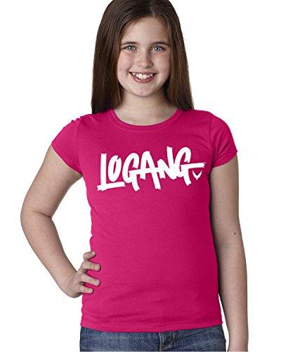 CLOTHING WORLD Logang Girls T-Shirt Medium Rasberry