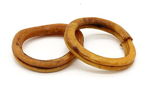 4 Inch Odor-Free Bully Stick Rings - All-Natural, Grass Fed (25 Rings) by My Bully Sticks