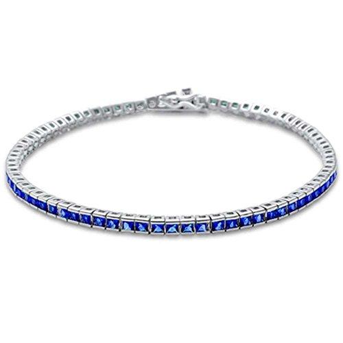 - Half Bezel Tennis Bracelet 7