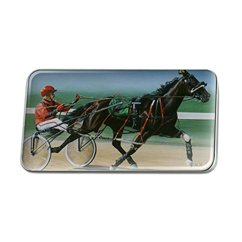 GRAPHICS & MORE Harness Racing Horse Sulky Trotter Rectangle Lapel Hat Pin Tie Tack Pinback -  LAPELPIN_RECT.QQJQLMG00.Z001443_8