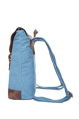 Blue Robusto Durable Viaje Y Ocio Para Estudiante Mochila Retro Hombre q8zfqPw
