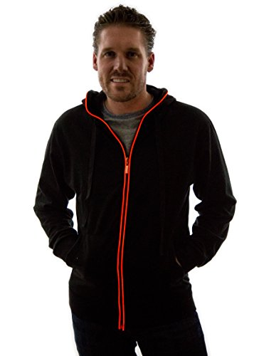 Neon Nightlife Light Up Hoodie, Small, Red]()