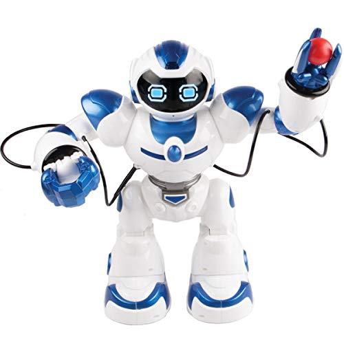 Kids Tech VA90022 Interactive Robot with Remote Control, Robot Can Sing, Dance, and Shoot A Ball Toy, Grab and Deliver Objects, Test Accuracy, Interactive Robot, Slow Walks, White by Kids Tech (Image #1)