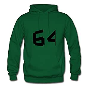 Women Zahl_64__f1 Designed Popular Long-sleeve Green Hoodyby Caleter