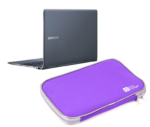 """DURAGADGET Purple Water & Shock Resistant Soft Case with Dual Zips for Samsung ATIV Book 9 Plus (13.3"""" QHD+ Touch / Core i5) NP940X3G-K06US, Samsung ATIV Book 9 Plus (13.3"""" QHD+ Touch / Core i7) NP940X3G-K04US, Samsung ATIV Book 9 Plus (13.3"""" QHD+ Touch / Core i5) NP940X3G-K03US & Samsung ATIV Book 9 Plus (13.3"""" QHD+ Touch / Core i5) NP940X3G-K01US & Samsung Series 5 Ultra 535U3C A02"""