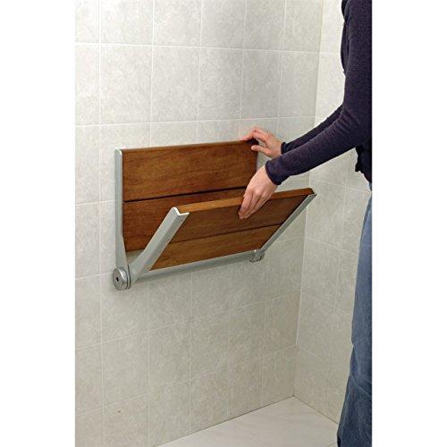 HealthCraft SerenaSeat Fold Down Shower Seat - 18-in.- Grey