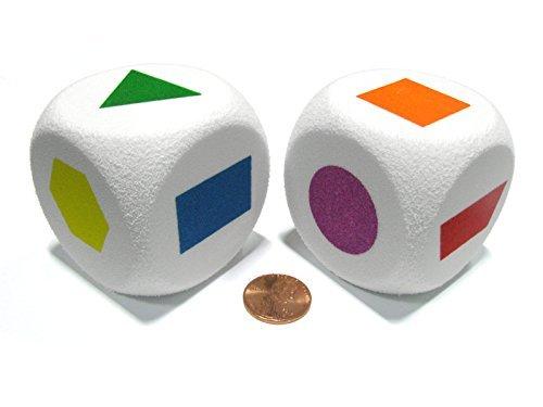 超高品質で人気の セットの2 – d6ジャンボ50 B01NBCL0MB mm Koplowゲーム Foam Dice withコーナー丸め – プライマリ図形Dice by Koplowゲーム B01NBCL0MB, 【セレクトアイ】:9ed00881 --- arianechie.dominiotemporario.com