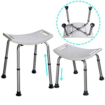 Amazon.com: Super buy 8 Height Adjustable Shower Chair Medical ...