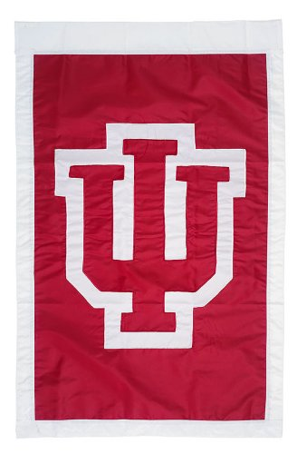 Team Sports America University of Indiana Applique House Flag, 29 x 43 - Gardens Of Shops Pembroke