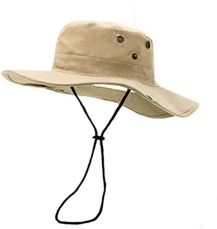bdd333b814573 Fonshow Jungle Camo Boonie Sun Hat Snap Wide Brim Caps Outdoor Fishing  Hunting Safari Cap