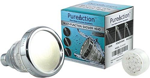 pureaction filtered shower head filters chlorine removes hard water preve. Black Bedroom Furniture Sets. Home Design Ideas