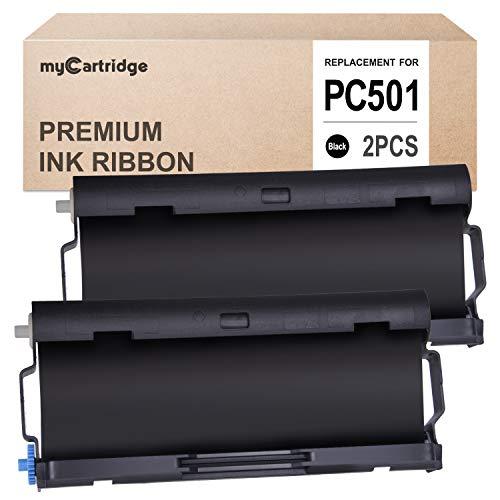 myCartridge 2 Pack PC501 Compatible with Brother Fax Cartridge for use in Brother FAX 575 Fax - Compatible Fax Pc501 Cartridge
