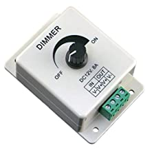 Coromsoe 12V 8A PIR Sensor LED Strip Light Switch Dimmer Brightness Adjustable Controller